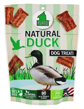 DROPPED: Plato Pet Treats - Duck Strips For Dogs - 6 oz. CLEARANCE PRICED