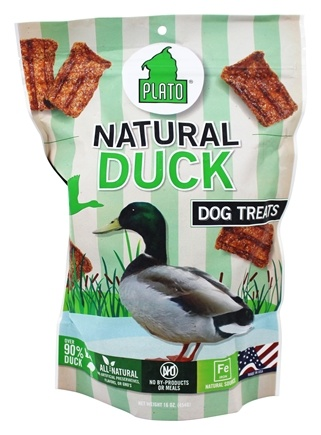 Plato Pet Treats - Natural Duck Strips For Dogs - 16 oz.