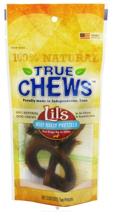 DROPPED: True Chews - Lils Beef Bully Pretzels For Dogs - 2 Pack