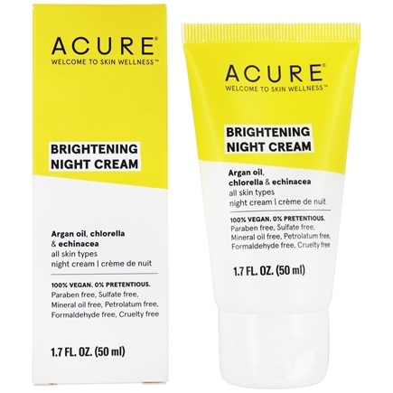 ACURE - Night Cream Argan Extract + Chlorella - 1.7 oz.