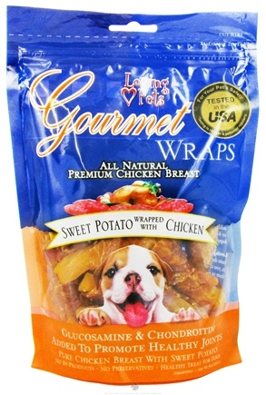 DROPPED: Loving Pets - Gourmet Wraps To Promote Healthy Joints For Dogs Sweet Potato Chicken - 8 oz.