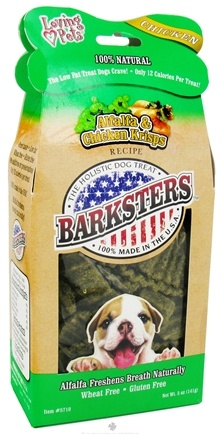 DROPPED: Loving Pets - Barksters Dog Treats Alfalfa & Chicken Krisps - 5 oz. CLEARANCE PRICED