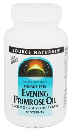 DROPPED: Source Naturals - Evening Primrose Oil 1300 mg. - 60 Softgels