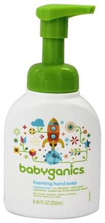 BabyGanics - Foaming Hand Soap Fine & Handy Fragrance Free - 8.45 oz.