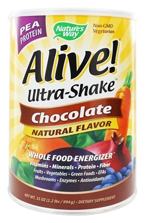 DROPPED: Nature's Way - Alive Pea Protein Ultra-Shake Whole Food Energizer Chocolate - 35 oz.
