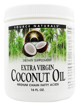 DROPPED: Source Naturals - Extra Virgin Coconut Oil - 16 oz.