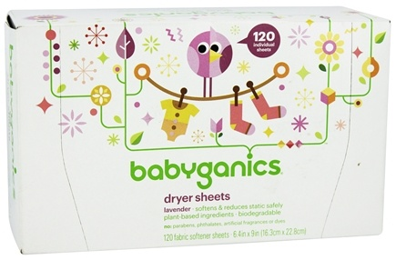 BabyGanics - Dryer Sheets Lavender Scent - 120 Sheet(s)