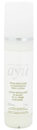 DROPPED: AYU Natural Beauty Care - Body Lotion Stimulating Basil & Lemongrass - 7 oz. CLEARANCE PRICED