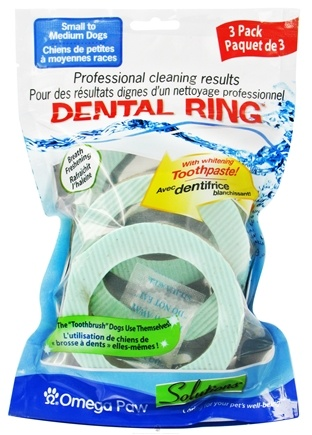 DROPPED: Omega Paw - Solutions Dental Ring Small - 3 Pack CLEARANCE PRICED