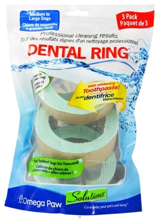 DROPPED: Omega Paw - Solutions Dental Ring Large - 3 Pack CLEARANCE PRICED