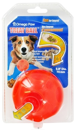 DROPPED: Omega Paw - Tricky Treat Ball Small - 2.8 in. CLEARANCE PRICED