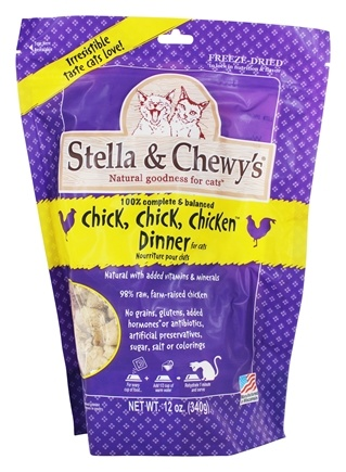 DROPPED: Stella & Chewy's - Freeze-Dried Cat Food Chick, Chick, Chicken Dinner - 12 oz.