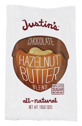 Justin's Nut Butter - Hazelnut Butter Squeeze Pack Chocolate - 1.15 oz.