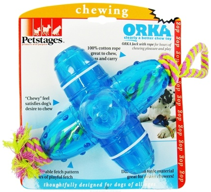 DROPPED: Petstages - Orka Jack With Rope Dog Toy Large - CLEARANCE PRICED