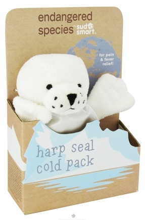 DROPPED: Health Science Labs - Endangered Species Cold Pack Harp Seal - CLEARANCE PRICED