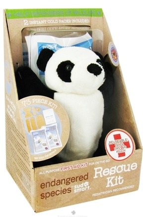 DROPPED: Health Science Labs - Endangered Species Rescue Kit All Purpose First Aid Kit Giant Panda - 73 Piece(s) CLEARANCE PRICED