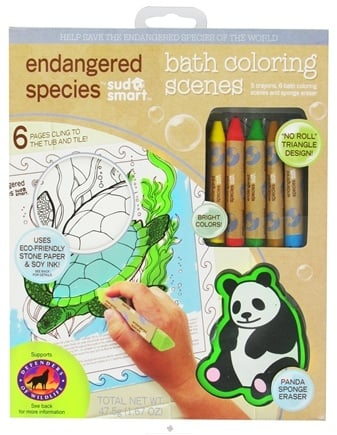 Zoom View - Endangered Species Bath Coloring Scenes Set