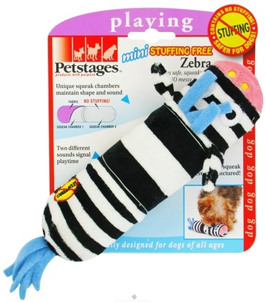 DROPPED: Petstages - Lil Squeak Zebra Dog Toy