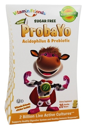 DROPPED: Vitamin Friends - ProbaYo Acidophilus & Prebiotic Sugar Free Vanilla Bears - 20 Gummies