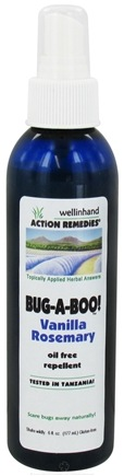 DROPPED: Wellinhand - Bug-A-Boo Oil Free Repellent Vanilla Rosemary - 6 oz. CLEARANCE PRICED