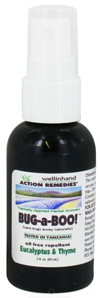 DROPPED: Wellinhand - Bug-A-Boo Oil Free Repellent Eucalyptus & Thyme - 2 oz. CLEARANCE PRICED
