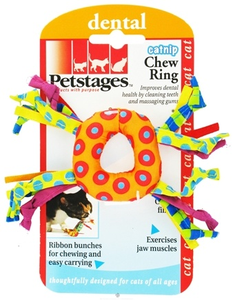 DROPPED: Petstages - Catnip Chew Ring Cat Toy - CLEARANCE PRICED