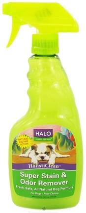 DROPPED: Halo Purely for Pets - HolistiClean Super Stain & Odor Remover For Dogs - 16 oz. CLEARANCE PRICED