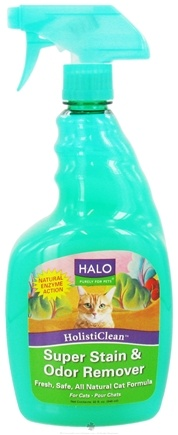 DROPPED: Halo Purely for Pets - HolistiClean Super Stain & Odor Remover For Cats - 32 oz. CLEARANCE PRICED