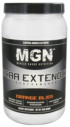 DROPPED: Muscle Gauge Nutrition - BCAA Extended Performance Orange Bliss - 1000 Grams