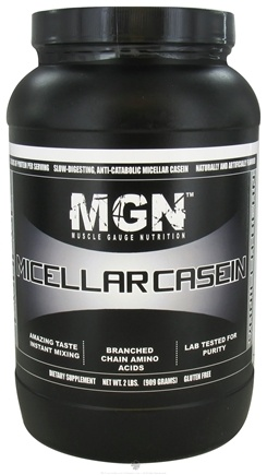 DROPPED: Muscle Gauge Nutrition - Micellar Casein Vanilla Bean - 2 lbs. CLEARANCE PRICED