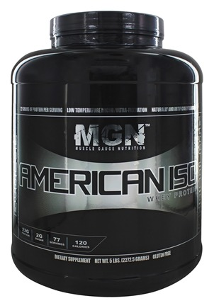 Muscle Gauge Nutrition - American Iso Whey Protein Chocolate - 5 lbs.