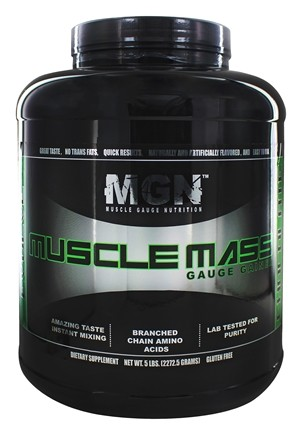 Muscle Gauge Nutrition - Muscle Mass Gauge Gainer Chocolate - 5 lbs.