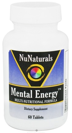 DROPPED: NuNaturals - Mental Energy Multi-Nutritional Formula - 60 Tablets CLEARANCE PRICED