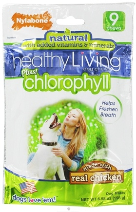 DROPPED: Nylabone - Healthy Living Dog Chews Plus Chlorophyll - 9 Chew(s) CLEARANCE PRICED