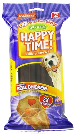 DROPPED: Nylabone - Happy Time! Edible Chews - 2 Chew(s) CLEARANCE PRICED
