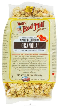 DROPPED: Bob's Red Mill - Granola Original Whole Grain Apple Blueberry - 12 oz. CLEARANCE PRICED