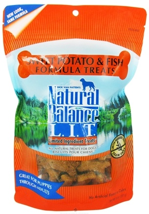 DROPPED: Natural Balance Pet Foods - L.I.T. Limited Ingredient Treats For Dogs Sweet Potato & Fish - 14 oz.