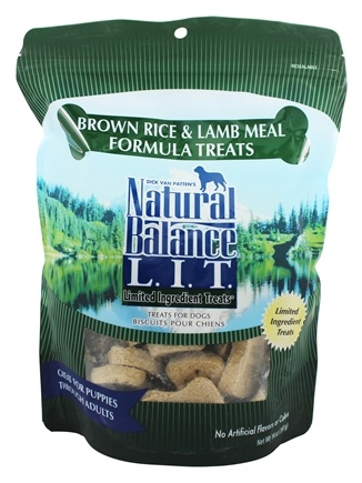 DROPPED: Natural Balance Pet Foods - L.I.T. Limited Ingredient Treats For Dogs Brown Rice & Lamb Meal - 14 oz.