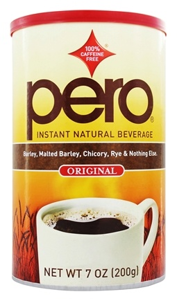Pero - Coffee Substitute Instant Natural Beverage Original 100% Caffeine Free - 7 oz.
