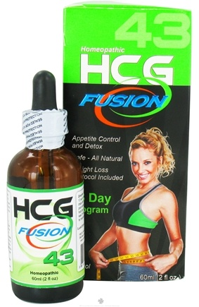 DROPPED: Fusion Diet Systems - HCG Fusion 43 Day Program Homeopathic Professional Grade HCG - 2 oz. CLEARANCE PRICED