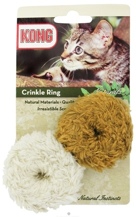 DROPPED: Kong - Naturals Crinkle Ring Cat Toy - CLEARANCE PRICED