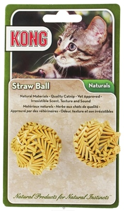 DROPPED: Kong - Naturals Straw Ball Cat Toy - CLEARANCE PRICED