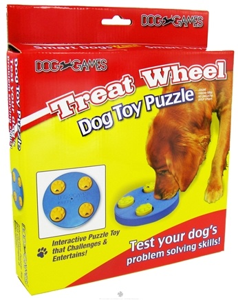 DROPPED: Kyjen - Dog Games Treat Wheel Toy Puzzle - CLEARANCE PRICED