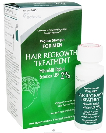 DROPPED: Actavis - Regular Strength Hair Regrowth Treatment for Men One Month Supply - 2 oz. CLEARANCE PRICED
