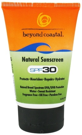 DROPPED: Beyond Coastal - Sunscreen Natural 30 SPF - 2.5 oz. CLEARANCE PRICED