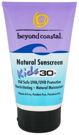 DROPPED: Beyond Coastal - Sunscreen Natural Kids 30 SPF - 4 oz. CLEARANCE PRICED