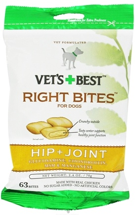 DROPPED: Vet's Best - Right Bites For Dogs Hip + Joint - 2.4 oz. CLEARANCE PRICED