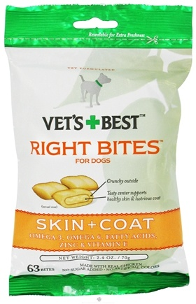 DROPPED: Vet's Best - Right Bites For Dogs Skin + Coat - 2.4 oz.