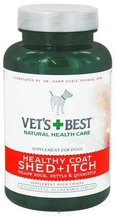 DROPPED: Vet's Best - Healthy Coat Shed + Itch - 50 Chewable Tablets CLEARANCE PRICED