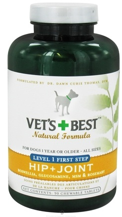DROPPED: Vet's Best - Hip + Joint Level 1 First Step For Dogs - 90 Chewable Tablets CLEARANCE PRICED